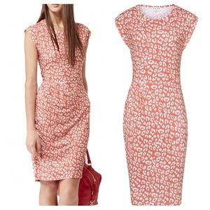 Reiss Gilda orange dress size 2